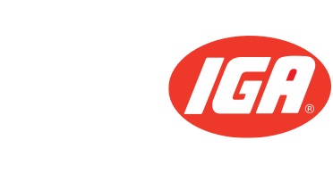 A theme footer logo of G&R IGA