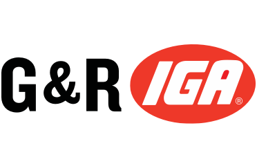 A theme logo of G&R IGA